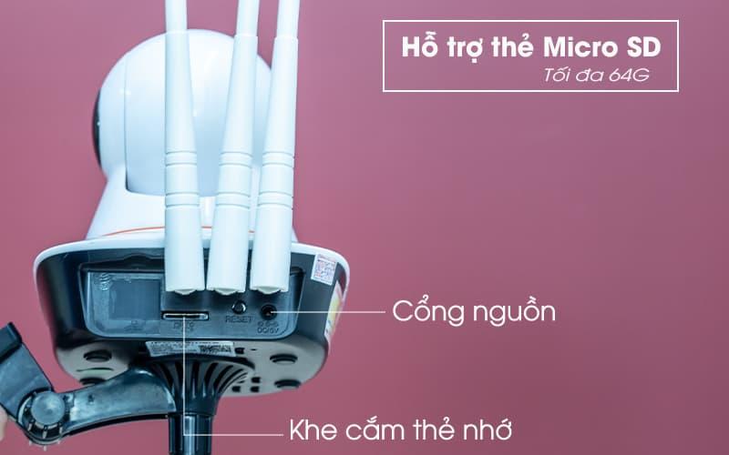 Hỗ trợ thẻ nhở micro SD - yoosee 3 râu 3.0M